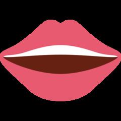 Mouth twitter emoji