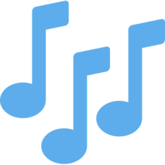 Multiple Musical Notes twitter emoji