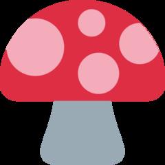Mushroom twitter emoji