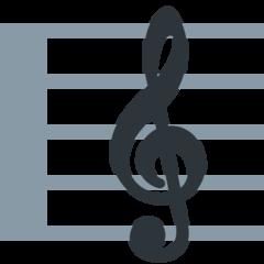 Musical Score twitter emoji
