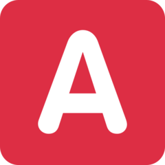 Negative Squared Latin Capital Letter A twitter emoji