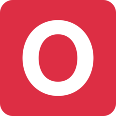 Negative Squared Latin Capital Letter O twitter emoji