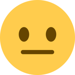 Neutral Face twitter emoji