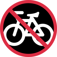 No Bicycles twitter emoji