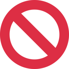 No Entry Sign twitter emoji