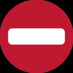 No Entry twitter emoji