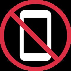 No Mobile Phones twitter emoji