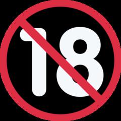 No One Under Eighteen Symbol twitter emoji