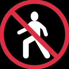 No Pedestrians twitter emoji