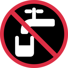 Non-potable Water Symbol twitter emoji