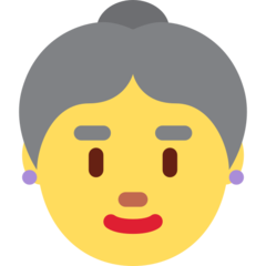 Older Woman twitter emoji