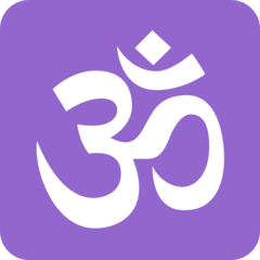 Om Symbol twitter emoji
