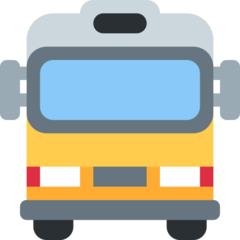 Oncoming Bus twitter emoji