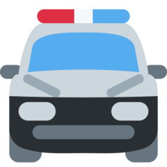Oncoming Police Car twitter emoji