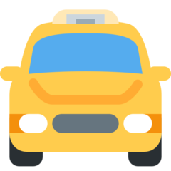 Oncoming Taxi twitter emoji