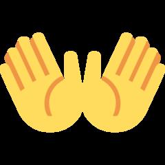 Open Hands Sign twitter emoji