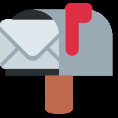 Open Mailbox With Raised Flag twitter emoji