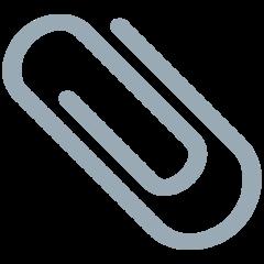 Paperclip twitter emoji