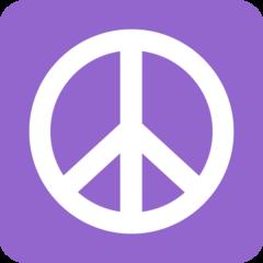 Peace Symbol twitter emoji