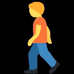 Pedestrian twitter emoji