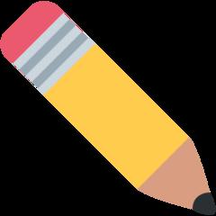 Pencil twitter emoji