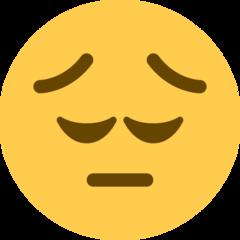 Pensive Face twitter emoji