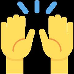 Person Raising Both Hands In Celebration twitter emoji