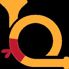 Postal Horn twitter emoji
