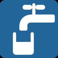 Potable Water Symbol twitter emoji