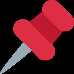 Pushpin twitter emoji