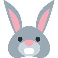 Rabbit Face twitter emoji