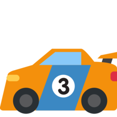Racing Car twitter emoji
