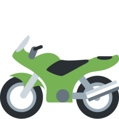 Racing Motorcycle twitter emoji