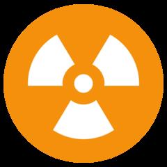 Radioactive Sign twitter emoji