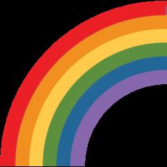 Rainbow twitter emoji