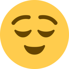 Relieved Face twitter emoji
