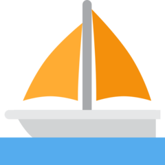 Sailboat twitter emoji