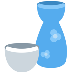 Sake Bottle And Cup twitter emoji