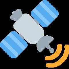Satellite twitter emoji