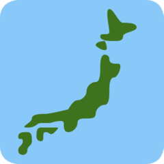 Silhouette Of Japan twitter emoji