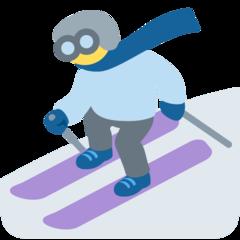 Skier twitter emoji