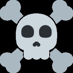 Skull And Crossbones twitter emoji