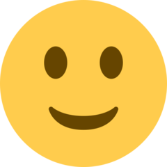 Slightly Smiling Face twitter emoji