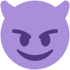 Smiling Face With Horns twitter emoji