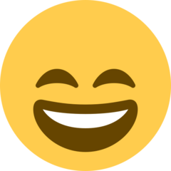 Smiling Face With Open Mouth And Smiling Eyes twitter emoji