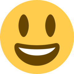 Smiling Face With Open Mouth twitter emoji