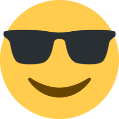 Smiling Face With Sunglasses twitter emoji