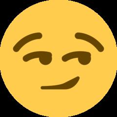 Smirking Face twitter emoji