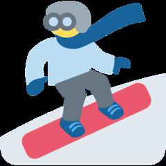 Snowboarder twitter emoji