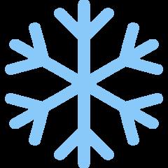 Snowflake twitter emoji